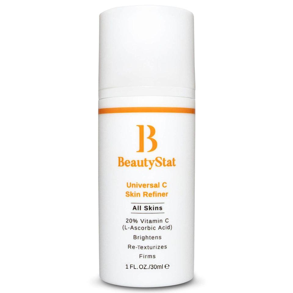 """<p><strong>BeautyStat</strong></p><p>skinstore.com</p><p><strong>$80.00</strong></p><p><a href=""""https://go.redirectingat.com?id=74968X1596630&url=https%3A%2F%2Fwww.skinstore.com%2Fbeautystat-universal-c-skin-refiner%2F12293290.html&sref=https%3A%2F%2Fwww.oprahdaily.com%2Fbeauty%2Fskin-makeup%2Fg29529033%2Fbest-dark-spot-correctors%2F"""" rel=""""nofollow noopener"""" target=""""_blank"""" data-ylk=""""slk:Shop Now"""" class=""""link rapid-noclick-resp"""">Shop Now</a></p><p>Created by cosmetic chemist Ron Robinson, this overachiever does it all—which is exactly why we're giving it a glowing review. Packed with 20% L-Ascorbic Acid (the most potent form of vitamin C), moisturizing squalane, an active compound from green tea, and tartaric acid, this gel-cream evens tone and texture, minimizes fine lines and wrinkles, and gives your complexion a lit-from-within glow. Even better? The formula is packaged in an opaque bottle with a pump, which not only protects the precious vitamin C from air, light and bacteria, but it also ensures that the perfect amount of product gets dispensed every time. </p>"""
