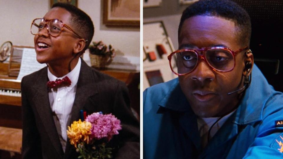 """Jaleel White in the Season 1, 12th episode of """"Family Matters"""" vs. the last episode"""