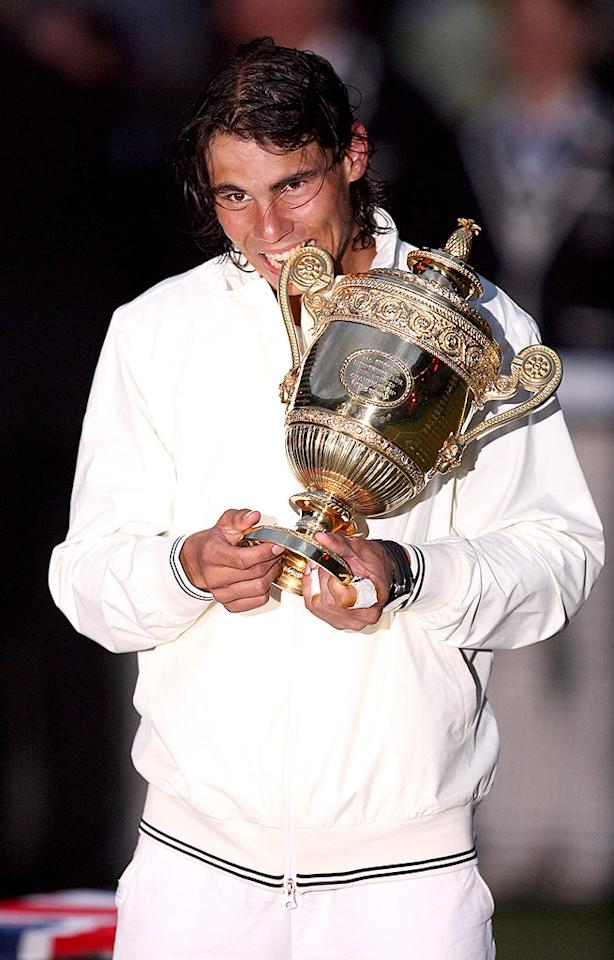 """Speaking of people we love ... how 'bout Wimbledon winner Rafael Nadal? We've been drooling over the adorable tennis ace long before he defeated the five time defending champ on Centre Court. <a href=""""http://www.splashnewsonline.com"""" target=""""new"""">Splash News</a> - July 6, 2008"""