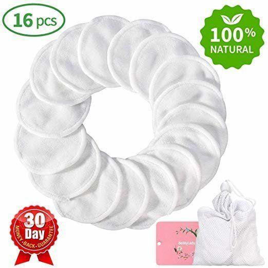 """These washable organic bamboo cotton rounds can be used to remove makeup and apply skincare products, washed in the laundry and reused. <strong><a href=""""https://www.amazon.com/Reusable-Remover-Washable-Organic-Cleansing/dp/B07D5XQRFW/ref=sr_1_2_sspa?thehuffingtop-20"""" target=""""_blank"""" rel=""""noopener noreferrer"""">Find them for $14 on Amazon</a>.</strong>"""