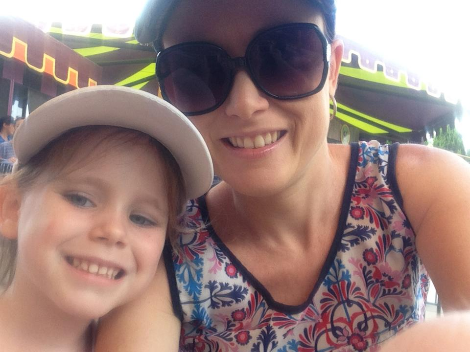 Tegan Mitchell pictured with her daughter Olivia Douglas, 8.