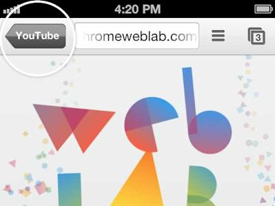Integrate Chrome with iphone and ipad apps