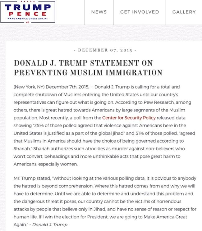Text Of Trump S Eo On Travel Ban