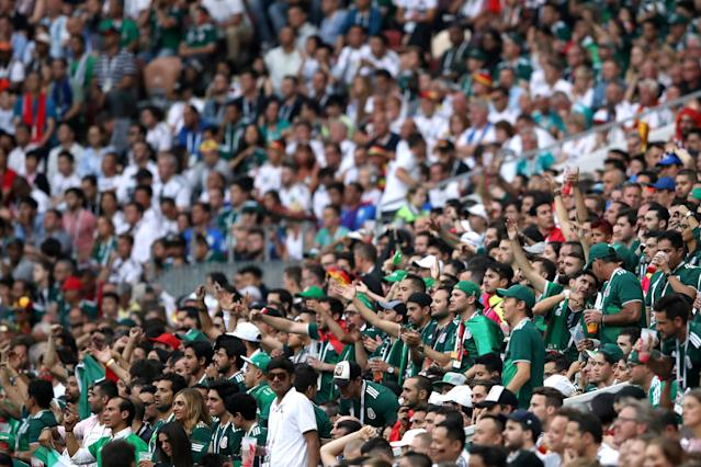 Soccer Football – World Cup – Group F – Germany vs Mexico – Luzhniki Stadium, Moscow, Russia – June 17, 2018 Mexico Fans Picture taken June 17, 2018 REUTERS/Carl Recine