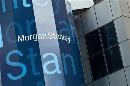 Morgan Stanley's New York headquarters are seen at the corner of 48th Street and Broadway in New York