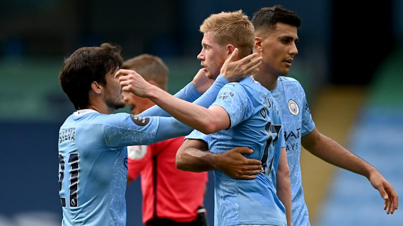 Manchester City 5-0 Norwich City: Record-equalling De Bruyne stars in fitting Silva farewell