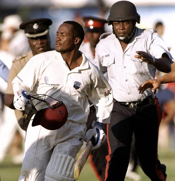 14 Mar 1999:  Brian Lara of the West Indies scores a double century against Australia in the Second Test at Sabina Park in Kingston, Jamaica. West Indies won by 10 wickets. \ Mandatory Credit: Shaun Botterill /Allsport