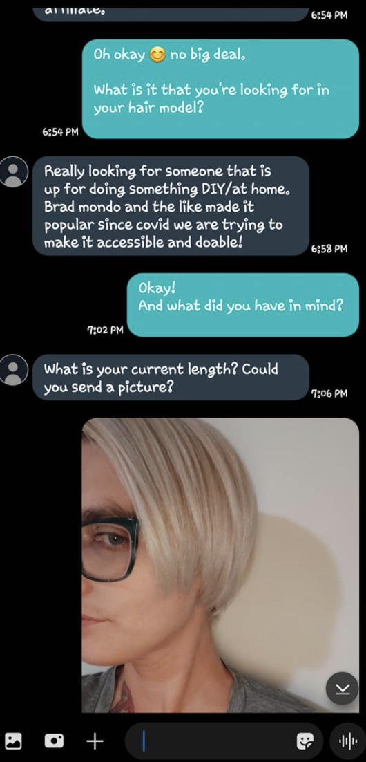 Images of the scam text message chain. Source: Facebook/Jake Randolph