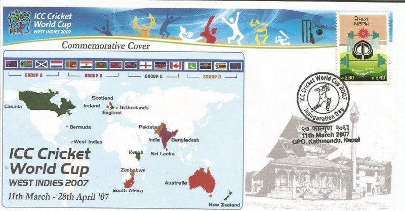 Cover of Nepal inaugural day 2007 Cricket World Cup