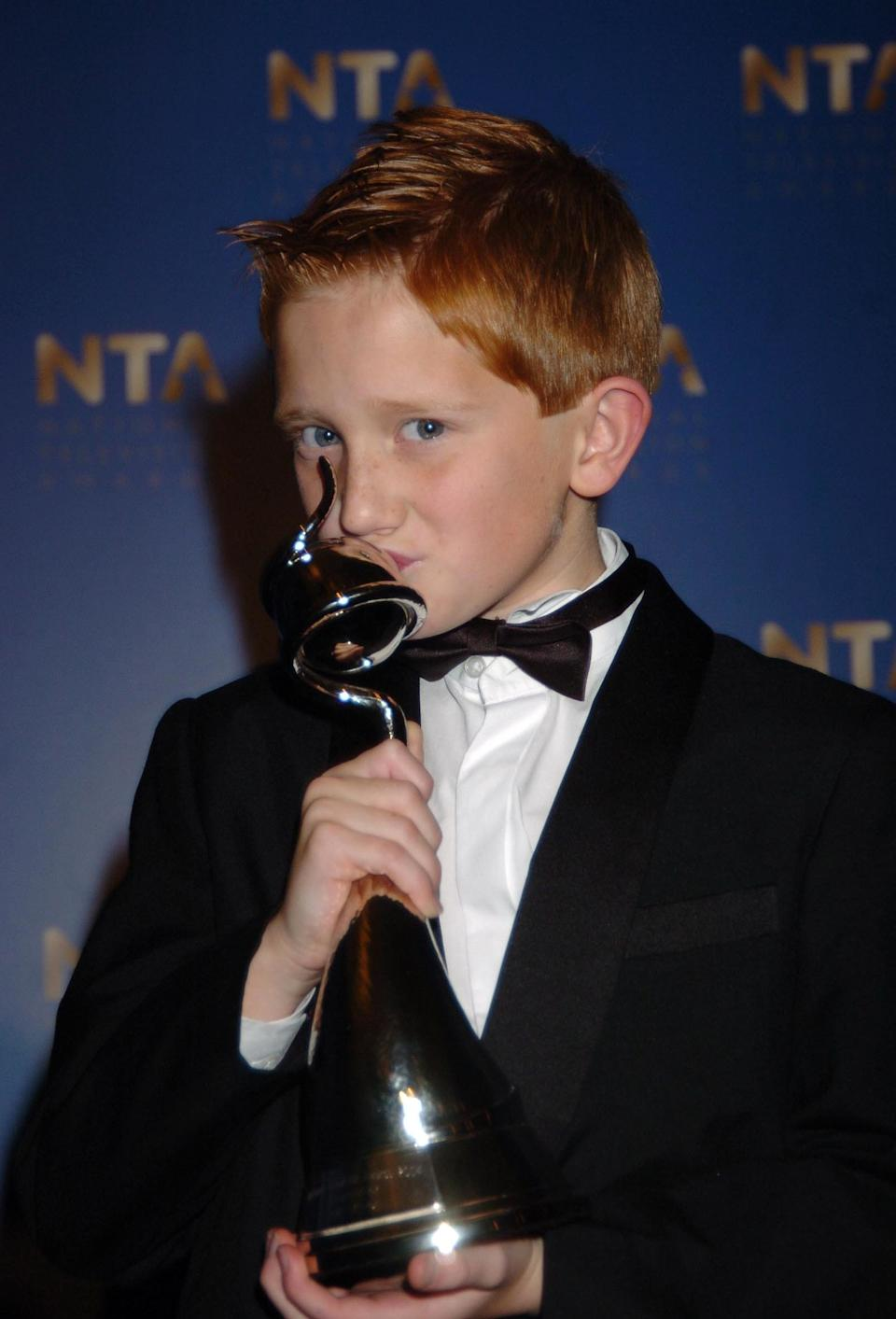Sam had not long turned 11 when he was awarded the award for Most Popular Newcomer, for his portrayal of Chesney Brown in 'Coronation Street'.<br /><br />It was a tough category too, with Patsy Kensit and Tracy-Ann Oberman both also up for the award.