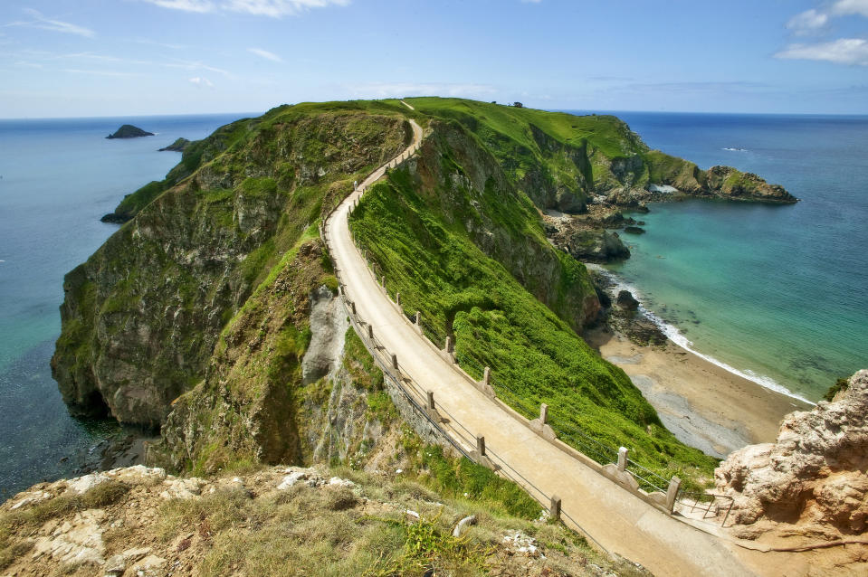 Joining the islands of big and Little Sark, the causeway of La Coupée is a beautiful walk.