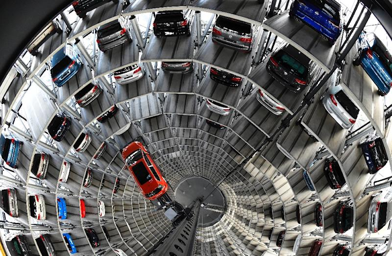Volkswagen Golf at the company's assembly plant in Wolfsburg, central Germany (AFP Photo/Tobias Schwarz)