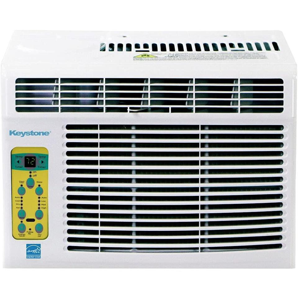 <p>Want a hands-free AC? The <span>Keystone KSTAW05CE Energy Star 5000 BTU Window-Mounted Air Conditioner</span> ($200) comes with a remote control that has a thermostat inside. If your room starts to heat up unevenly, the remote will signal to the AC to cool things down depending on where you are. </p>