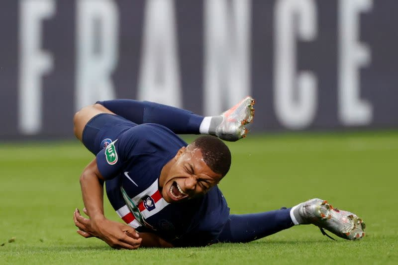 PSG confirm Mbappe suffers ankle sprain, no update on return