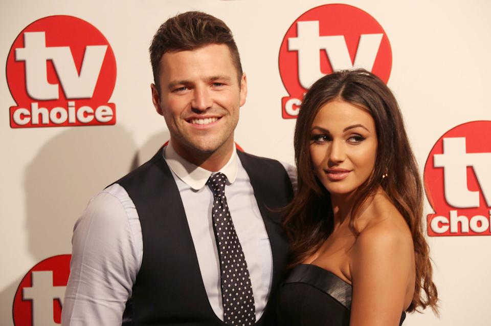Mark Wright and Michelle Keegan arrive for the TV Choice awards at the Park Lane Hilton in central London, England, Monday, Sept. 8, 2014. (Photo by Joel Ryan/Invision/AP) -