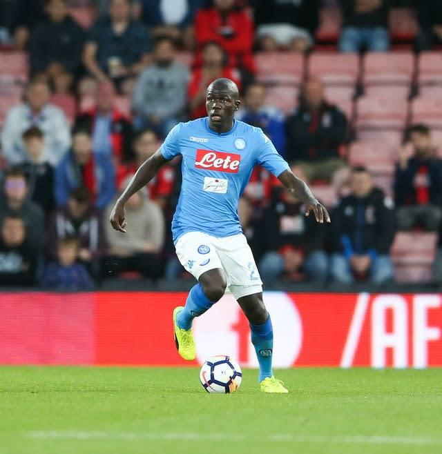 Napoli's Kalidou Koulibaly has been subject of interest from a number of European clubs (Scott Heavey/PA)