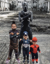 """<p>Avengers, assemble! Every family member can choose their favorite super and become one of Earth's Mightiest Heroes.</p><p><em><a href=""""https://www.instagram.com/p/BpmakyhnOXm/"""" rel=""""nofollow noopener"""" target=""""_blank"""" data-ylk=""""slk:See more at NMSpidey on Instagram »"""" class=""""link rapid-noclick-resp"""">See more at NMSpidey on Instagram »</a></em></p><p><strong>RELATED: </strong><a href=""""https://www.goodhousekeeping.com/holidays/halloween-ideas/a37261477/loki-costumes/"""" rel=""""nofollow noopener"""" target=""""_blank"""" data-ylk=""""slk:The 11 Best Loki Costumes to Wear If You're Feeling Like the God of Mischief This Halloween"""" class=""""link rapid-noclick-resp"""">The 11 Best Loki Costumes to Wear If You're Feeling Like the God of Mischief This Halloween</a></p>"""