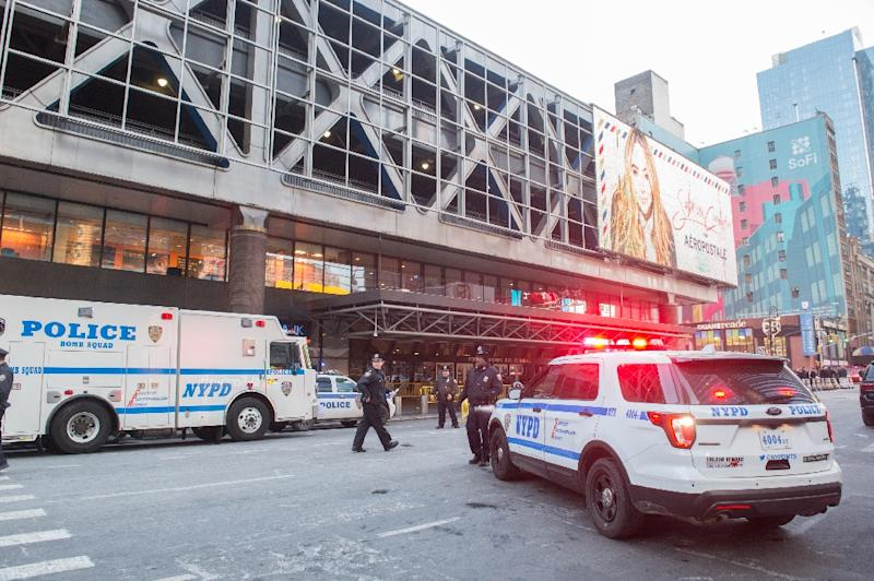 The explosion took place in the subway station at the Port Authority bus terminal, not far from New York's iconic Times Square, sparking commuter panic and travel disruptions (AFP Photo/Bryan R. Smith)