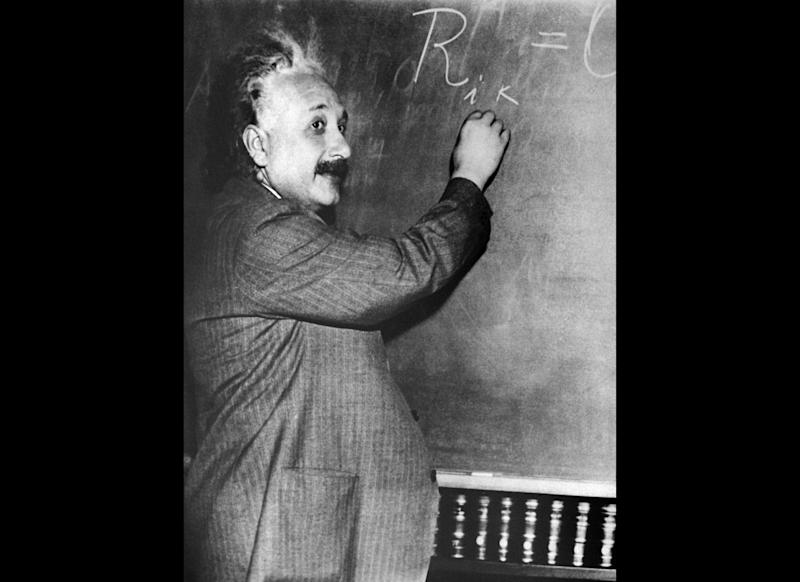An undated portrait of German-born Swiss-US physicist Albert Einstein (1879-1955), author of theory of relativity, awarded the Nobel Prize for Physics in 1921. (Photo credit should read -/AFP/Getty Images)