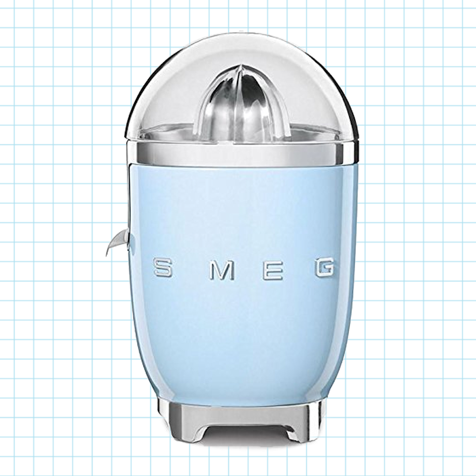 "<p><strong>Smeg</strong></p><p>bloomingdales.com</p><p><strong>$169.99</strong></p><p><a href=""https://go.redirectingat.com?id=74968X1596630&url=https%3A%2F%2Fwww.bloomingdales.com%2Fshop%2Fregistry%2Fwedding%2Fproduct%2Fsmeg-retro-citrus-juicer%3FID%3D2640997&sref=https%3A%2F%2Fwww.goodhousekeeping.com%2Fappliances%2Fjuicer-reviews%2Fg598%2Fbest-juicers%2F"" rel=""nofollow noopener"" target=""_blank"" data-ylk=""slk:Shop Now"" class=""link rapid-noclick-resp"">Shop Now</a></p><p>This retro-chic appliance from Smeg will <strong>juice your oranges, lemons, limes, and other citrus fruits with ease.</strong> It comes in black, cream, pastel green, pink, red, and pastel blue so you can match it to your bar cart (or your cocktail).</p>"
