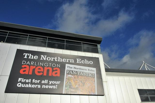 Darlington have asked to be able to return temporarily to their former home at the Northern Echo Arena