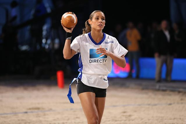 NEW ORLEANS, LA - FEBRUARY 02: Lolo Jones attends DIRECTV'S Seventh Annual Celebrity Beach Bowl at DTV SuperFan Stadium at Mardi Gras World on February 2, 2013 in New Orleans, Louisiana. (Photo by Christopher Polk/Getty Images For DirecTV)