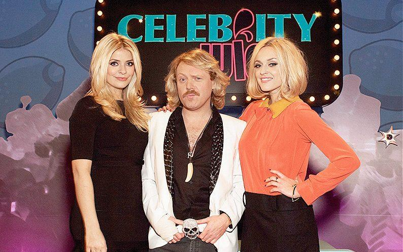 With Holly Willoughby and Keith Lemon on Celebrity Juice - Getty