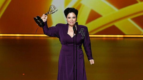 PHOTO: Alex Borstein accepts the Outstanding Supporting Actress in a Comedy Series award for 'The Marvelous Mrs. Maisel' onstage during the 71st Emmy Awards at Microsoft Theater on September 22, 2019 in Los Angeles, California. (Kevin Winter/Getty Images)