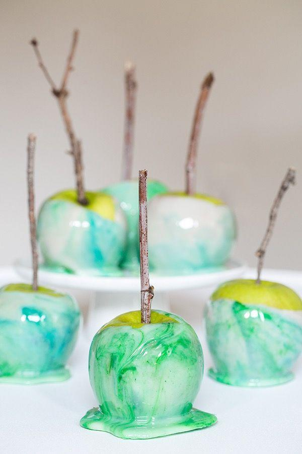 """<p>How can candy apples be this stunning? And, they're easy to make with the aid of a candy thermometer.</p><p><a class=""""link rapid-noclick-resp"""" href=""""https://sugarandcharm.com/how-to-marble-candy-apples"""" rel=""""nofollow noopener"""" target=""""_blank"""" data-ylk=""""slk:GET THE RECIPE"""">GET THE RECIPE</a> </p>"""
