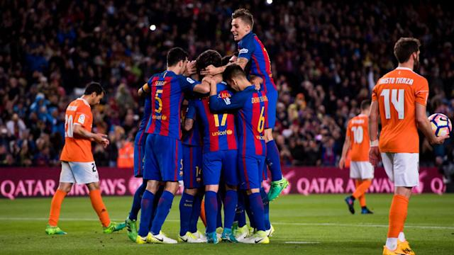 The Barcelona coach dismissed suggestions he would be rooting for the Andalucians on the final day of the season to deliver the title