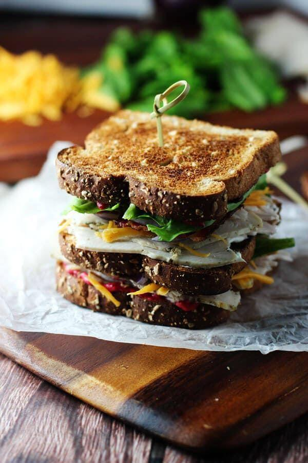 """<p>The only thing you'll need to cook after the big day is bacon!</p><p>Get the recipe from <a href=""""https://ohsweetbasil.com/ultimate-leftover-turkey-club/"""" rel=""""nofollow noopener"""" target=""""_blank"""" data-ylk=""""slk:Oh Sweet Basil"""" class=""""link rapid-noclick-resp"""">Oh Sweet Basil</a>.</p>"""