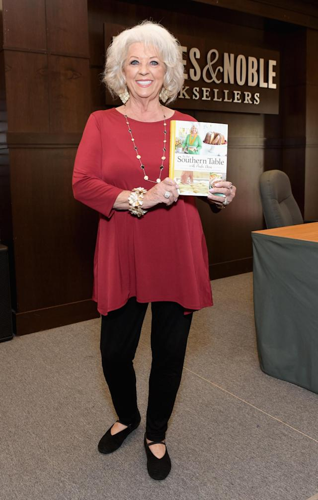 Paula Deen at a signing for her book <em>At the Southern Table</em> at Barnes & Noble at the Grove in L.A. on Oct. 1, 2017. (Photo: Tara Ziemba/Getty Images)