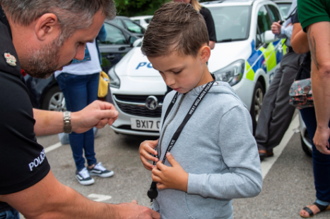 Oscar and Charlie were given their very own warrant cards as a memento of their shift (West Midlands Police)