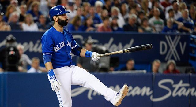 Jose Bautista has always generated elite power without sacrificing contact, which makes his dubious strikeout record an unfortunate footnote in his Blue Jays career. (Getty Images)