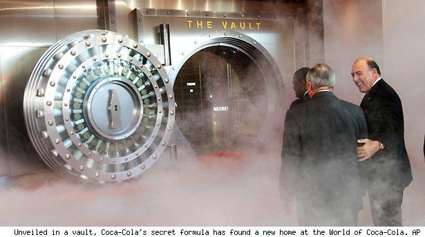 Unveiled in a vault, Coca-Cola's secret formula has found a new home at the World of Coca-Cola. AP