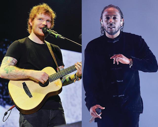 <p>Yes. Two of the VMA nominees for Artist of the Year — Kendrick Lamar and Ed Sheeran — are locks to be nominated for Album of the Year at the Grammys. (Photo: Getty Images) </p>