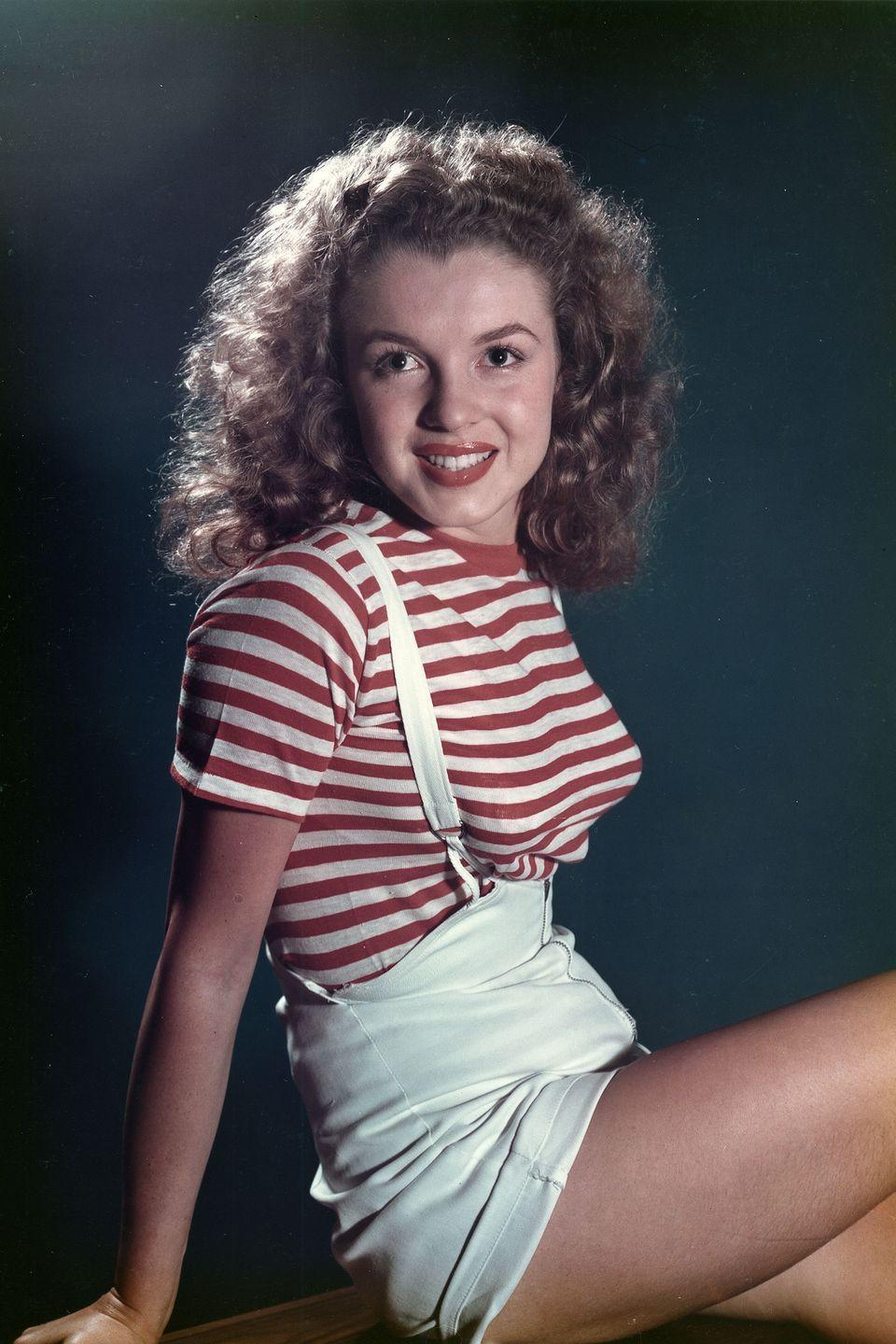 <p>Monroe in a portrait at 21 years old. </p>