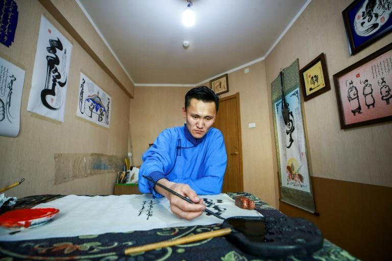 The traditional, vertical Mongolian script is enjoying a revival in Mongolia