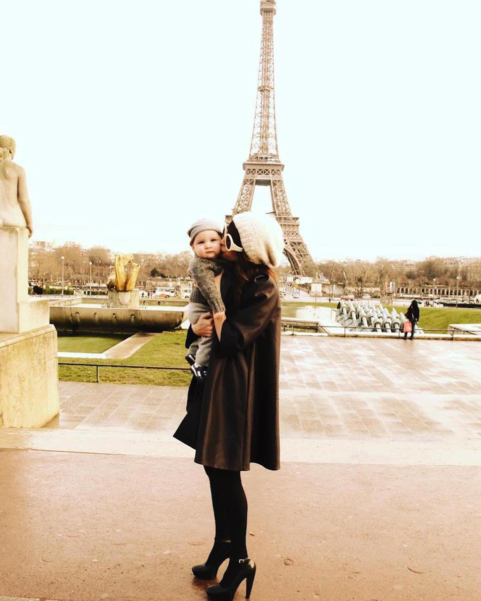 """<p>Kisses with kiddos in front of the Eiffel Tower makes for a cool photo op — just ask Nicole Richie. For her son Sparrow's birthday in 2015, when he turned 6, she shared a flashback of her baby when he was still a tot. (Photo: <a rel=""""nofollow noopener"""" href=""""https://www.instagram.com/p/7bVOjCpuir/?taken-by=nicolerichie&hl=en"""" target=""""_blank"""" data-ylk=""""slk:Nicole Richie via Instagram"""" class=""""link rapid-noclick-resp"""">Nicole Richie via Instagram</a>)<br><br></p>"""