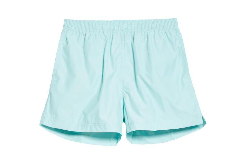 "$148, Nordstrom. <a href=""https://www.nordstrom.com/s/noah-solid-volley-swim-trunks-nordstrom-exclusive/5593416?origin=keywordsearch-personalizedsort&breadcrumb=Home&color=none"" rel=""nofollow noopener"" target=""_blank"" data-ylk=""slk:Get it now!"" class=""link rapid-noclick-resp"">Get it now!</a>"