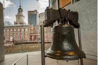 """<p>US History notes that every year on July 4, <a href=""""https://www.ushistory.org/libertybell/"""" rel=""""nofollow noopener"""" target=""""_blank"""" data-ylk=""""slk:the Liberty Bell is symbolically tapped 13 times"""" class=""""link rapid-noclick-resp"""">the Liberty Bell is symbolically tapped 13 times</a> by children who are descendants of Declaration signers, honoring the original 13 states. Unfortunately, the bell cannot be rung, as it was deemed too fragile after a crack appeared on George Washington's birthday in 1846, which is the last time it was rung. <br></p>"""