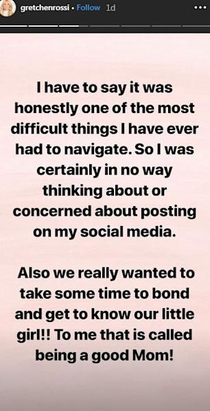 The sweet snaps come after she took to Instagram to clap back at people who questioned why she hadn't shared pics of her baby.