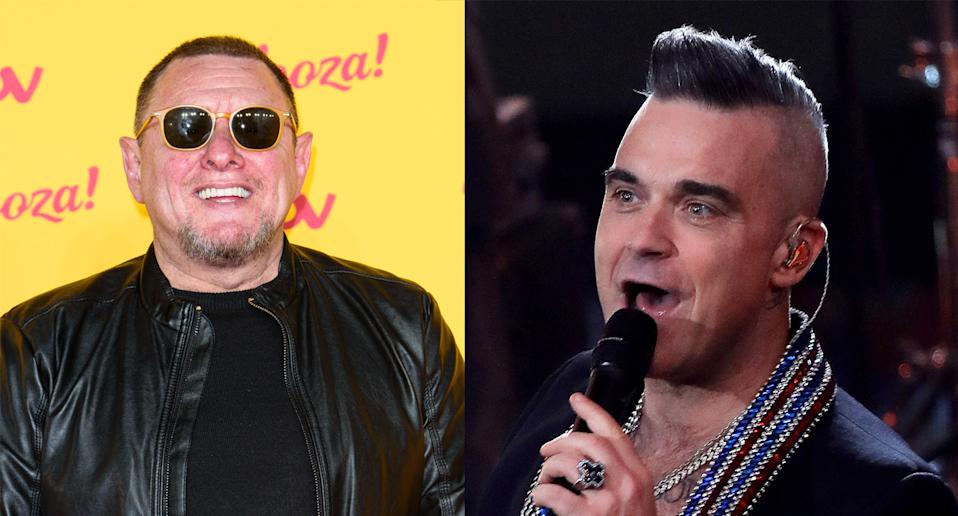 Shaun Ryder and Robbie Williams have penned a song together. (Photo by Joe Maher/Getty Images. Felipe Trueba - Pool/Getty Images)