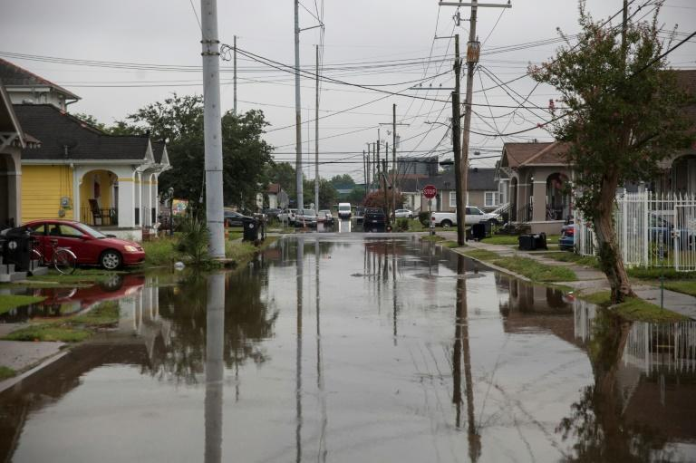 S Telemachus Street in New Orleans is submerged after flash floods struck the area early on July 10 (AFP Photo/Seth HERALD)