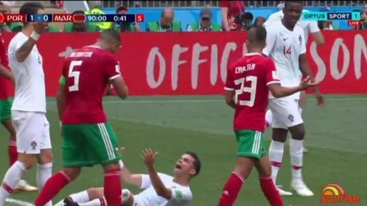 Portugal defender Pepe has put up a contender for worst dive ever with his histrionics after receiving a pat on the back.