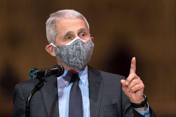 PHOTO: Dr. Anthony Fauci, director of the National Institute of Allergy and Infectious Diseases, speaks to a group at the Washington National Cathedral, to encourage faith communities to get the COVID vaccine, March 16, 2021 in Washington, D.C. (Manuel Balce Ceneta/AP)