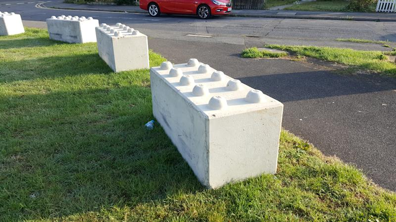 Ashford Borough Council brought in the Lego-like structures recently. (SWNS)