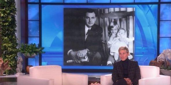 EllenDeGeneres paid a tribute to her late father on her show this Thursday.