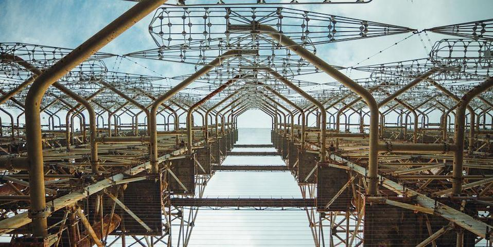 <p>While some military bases descend underground, one massive antenna, nicknamed the Russian Woodpecker, rises 50 stories high positioned in the wilderness of Russia.</p><p>Before it was abandoned, it was apart of the Soviet's powerful radar system used during the Cold War. It remains a landmark for tourists.</p>