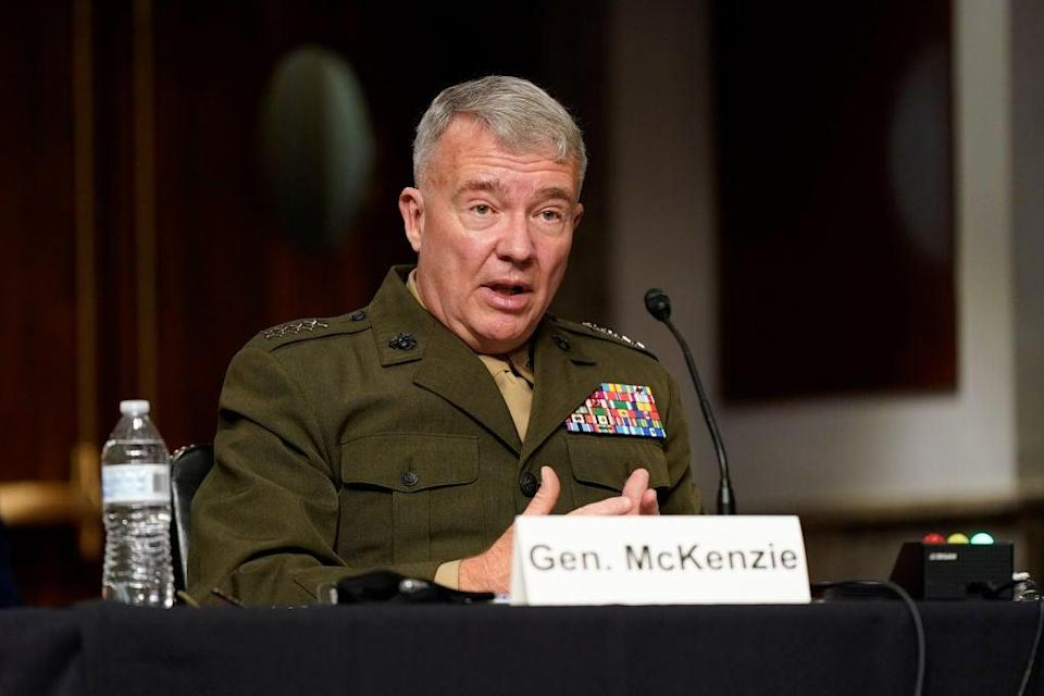CENTCOM commander Gen Kenneth McKenzie testifies at Tuesday's hearing of the Senate Armed Services Committee (Getty Images)